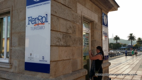 Tourist Booth at the docks in Ferrol, Spain