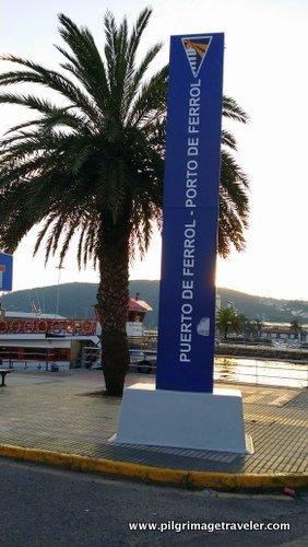 Port of Ferrol, Spain, sign