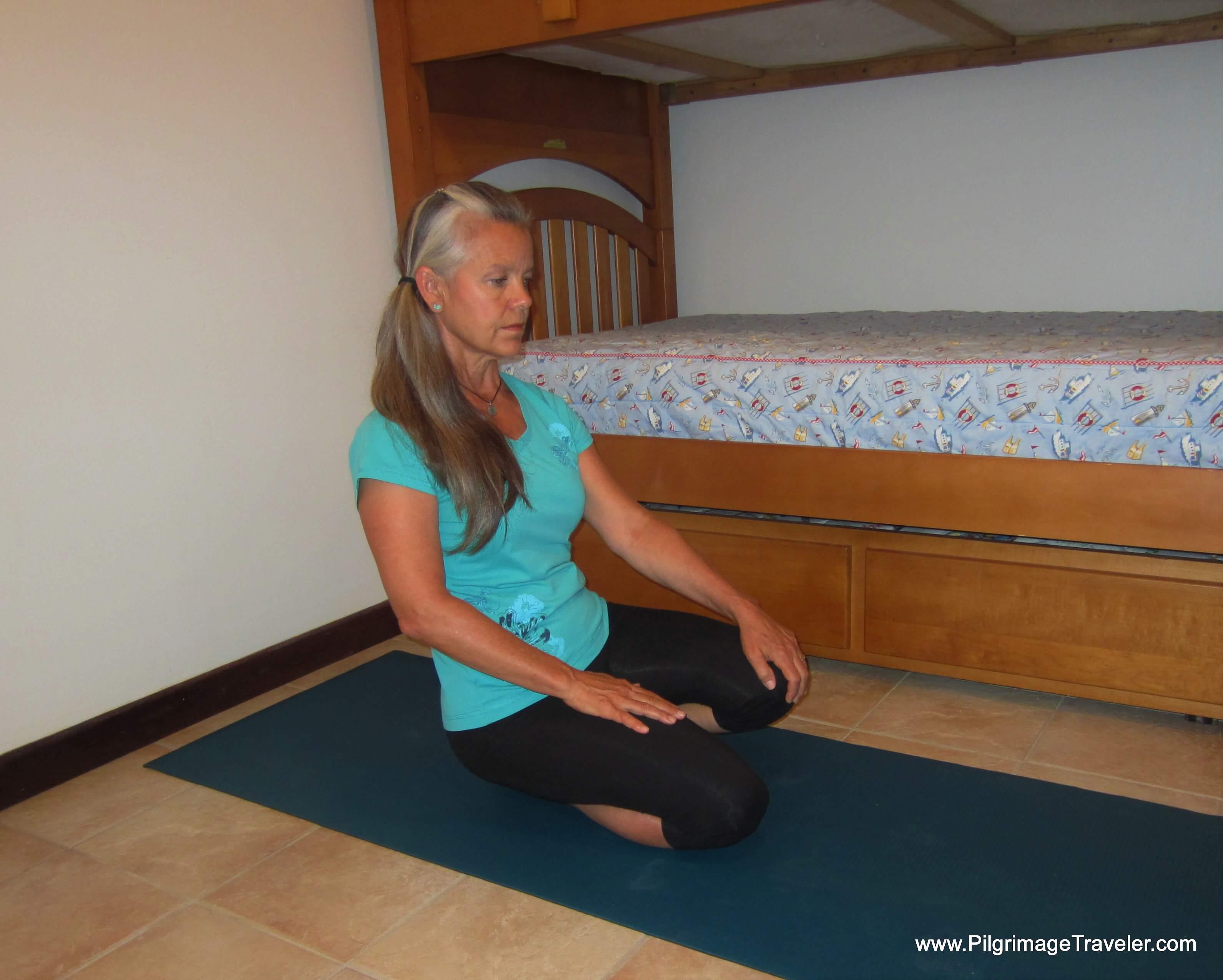 Ankle Plantar Flexion Stretch - Step Two