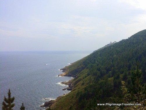 First Glimpse of the Finisterre Lighthouse