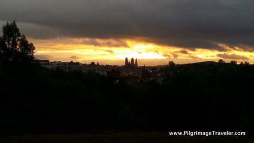 Sunrise and Clouds Framing the Cathedral of Santiago de Compostela