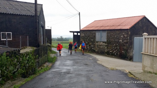 Walking Thru Farms on the Camino Finisterre