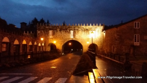 Negreira Medieval Gate to City, Spain