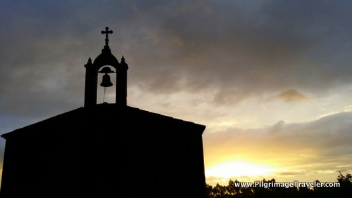 Country Church and Gorgeous Sunrise, Galicia, Spain
