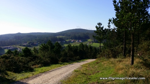 Country View and Windmills, Camino from Olveiroa to Finisterre, Galicia, Spain