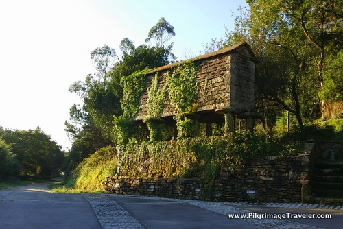 Horreo, Granary on the Camino Finisterre near Olveiroa, Spain