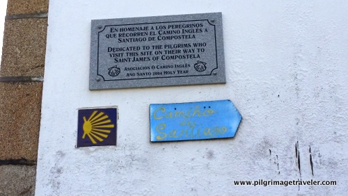 Commemorative Plaque on the Iglesia of Santa Maria, Neda, Spain