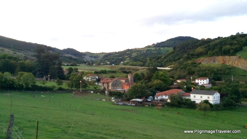 Looking Back on Doriga in Early Morning Light, Asturias, Spain