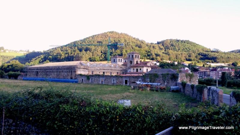 Leaving the Monastery and Cornellana on the SL-7, on the Original Way, Asturias, Spain