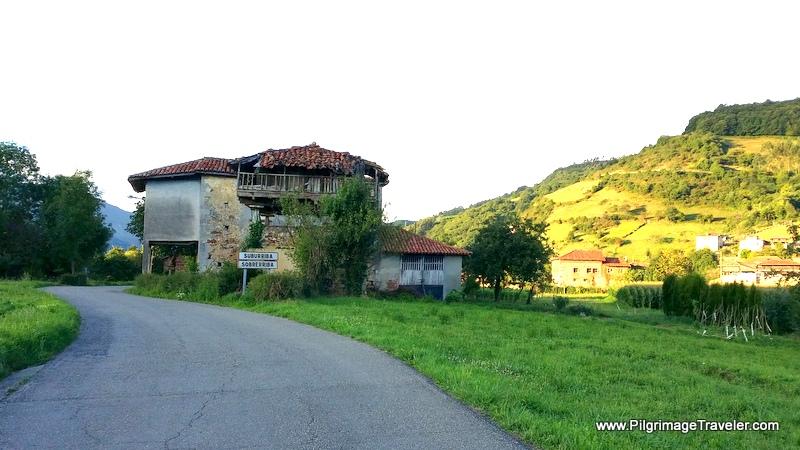 Entering Sobrerriba, Camino Primitivo, Asturias, Spain