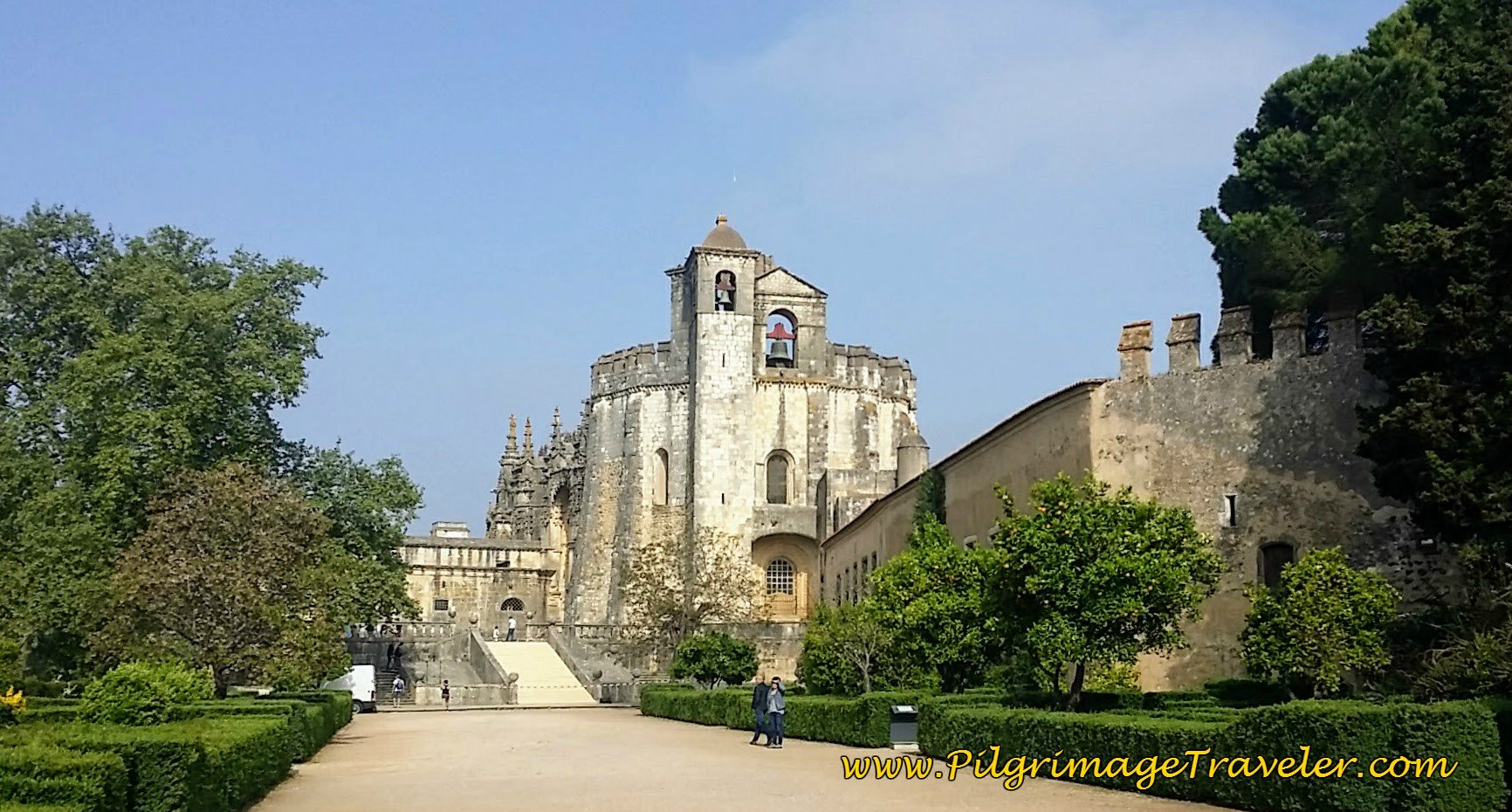 The Stunning Knight's Templar Church inside the Fortress at Tomar, Portugal