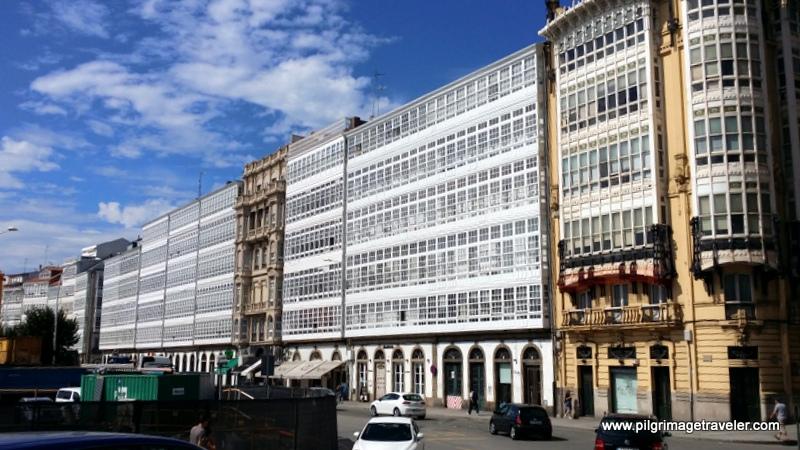 The Galerias Glass Houses, La Coruña, Galicia, Spain