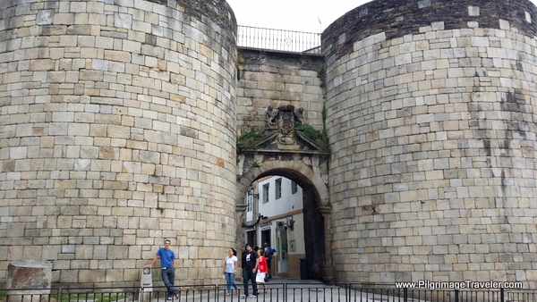 The Pilgrimage Gate Called the Porta de San Pedro ou Toledana in Lugo, Spain