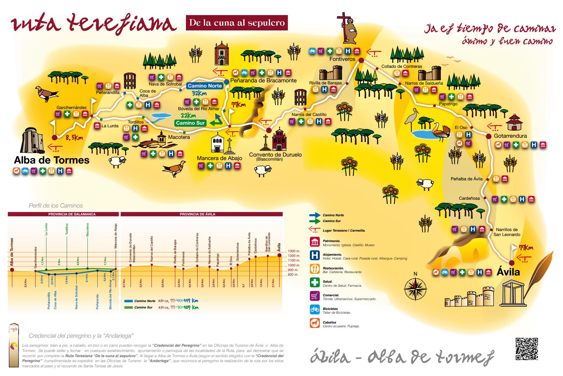 Tourist Map of the Camino Teresiano