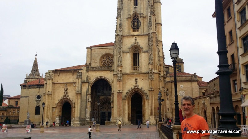 My Husband, Rich at the Cathedral of San Salvador, Oviedo, Spain