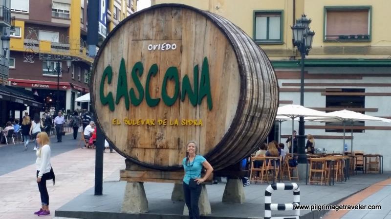 Cider Barrel Landmark, Oviedo Spain