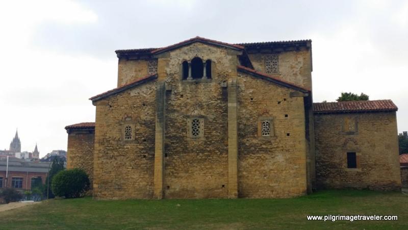 A Rear View of the Iglesia de San Julián de los Prados, Oviedo, Spain