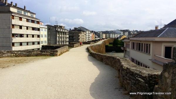 The Roman Wall Path in Lugo Spain